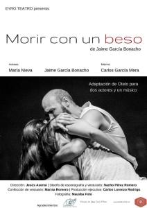 'Morir con un beso' (Cartel 2). Teatro / Eyro Teatro / 2016. Diseño cartel: Carlos Lorenzo.
